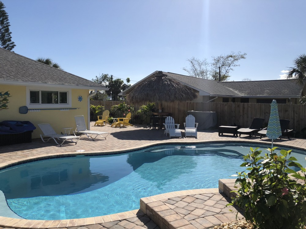 Cape Canaveral vacation rental with Tropical  Beach House W/ Heated Pool
