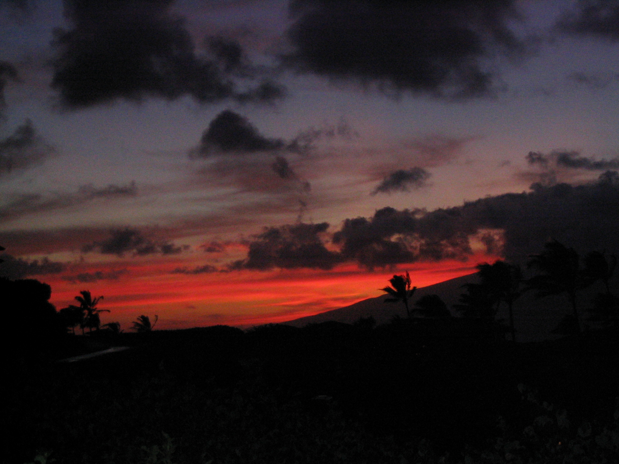 Maui sunset from the main lanai