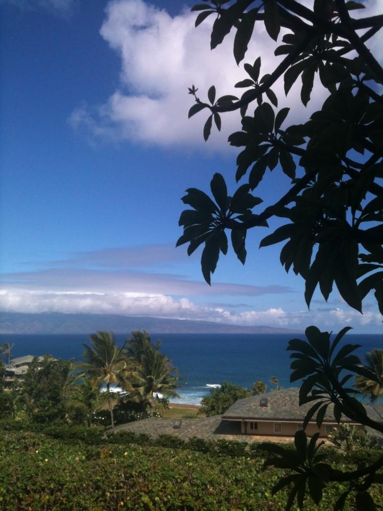 View from master lanai Lahaina vacation home
