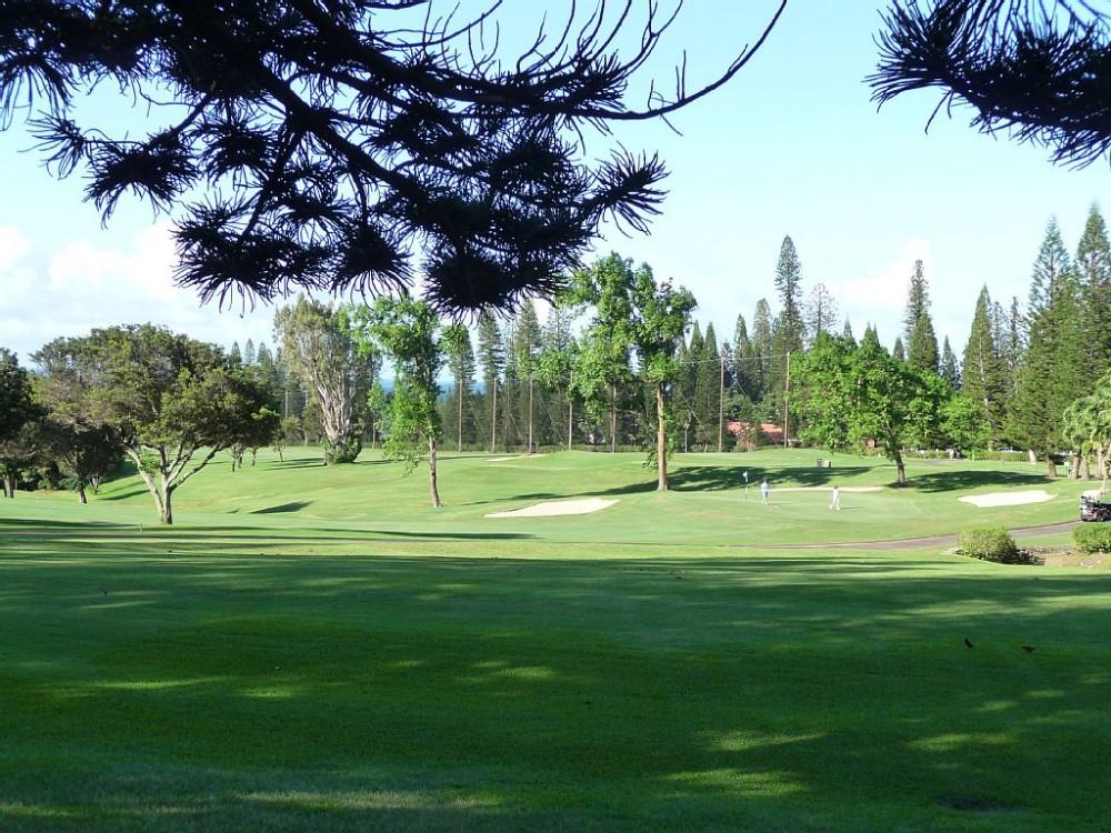 Three world class golf courses in Kapalua Lahaina vacation home