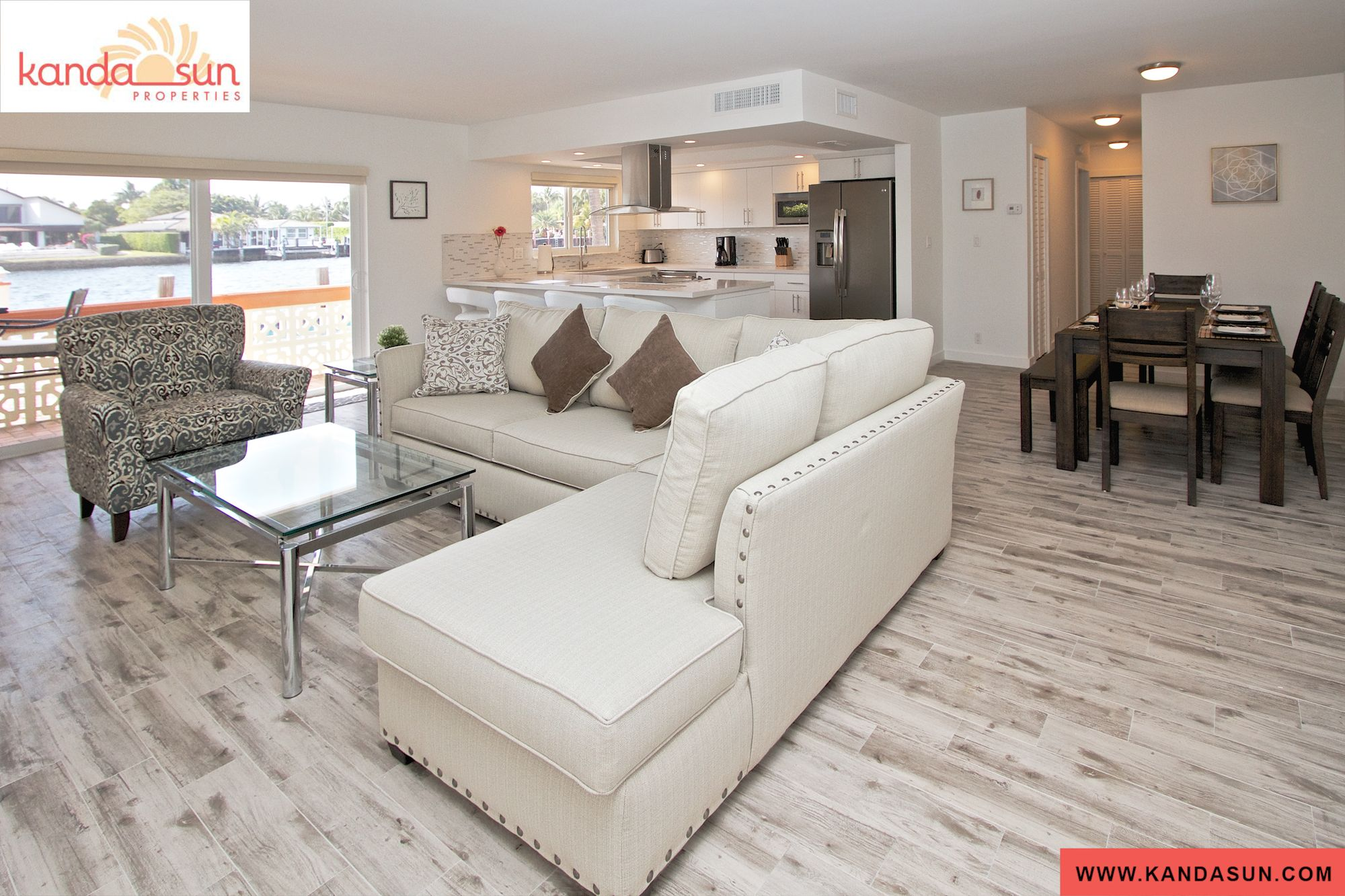 Kanda zen ground floor waterfront Badcock home furniture more pompano beach fl