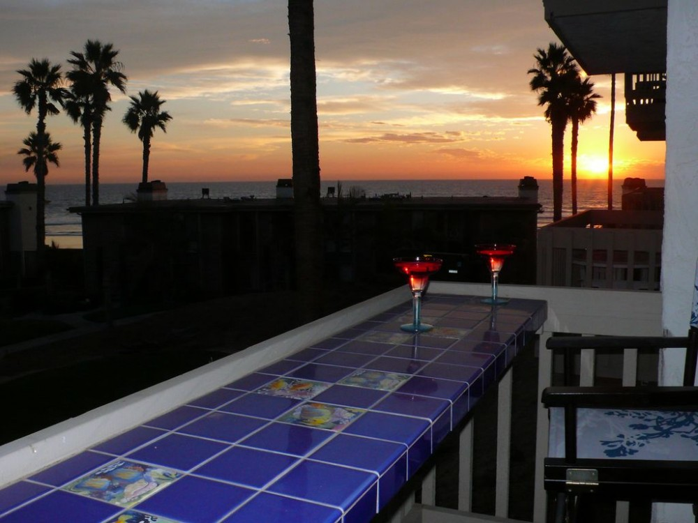 Oceanside vacation rental with Sunsets and Surf Views from our Patio