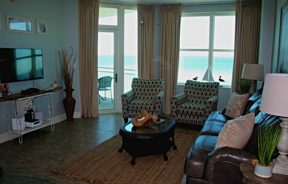 Panama City Beach vacation rental with Gulf-Front Family Room