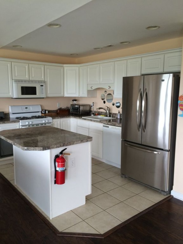 Kitchen (before new microhood installed) Airbnb Alternative Wildwood New Jersey Rentals