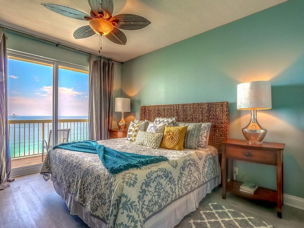 Panama City Beach vacation rental with Peaceful master bedroom w/ balcony access