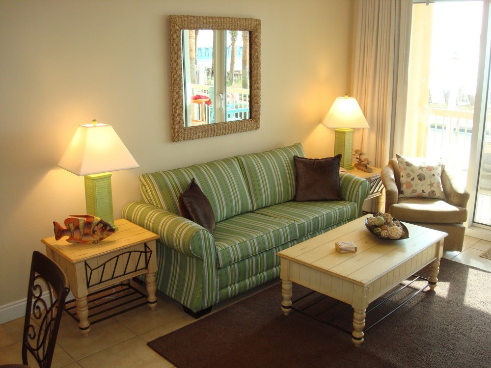 Panama City Beach vacation rental with Spacious main living w/ balcony access