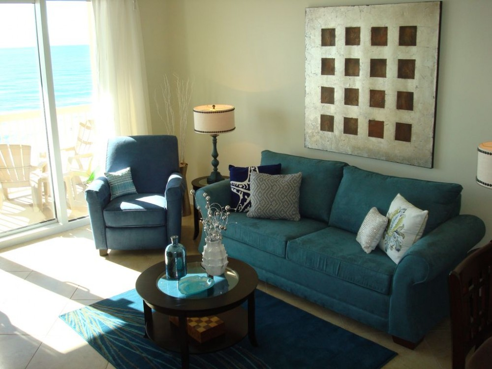 Panama City Beach vacation rental with Spacious living area w/ views of the Gulf