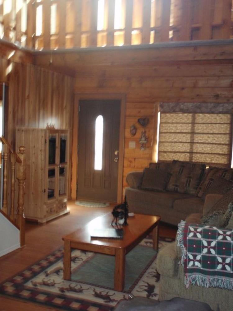 Front door to living room Cripple Creek vacation home
