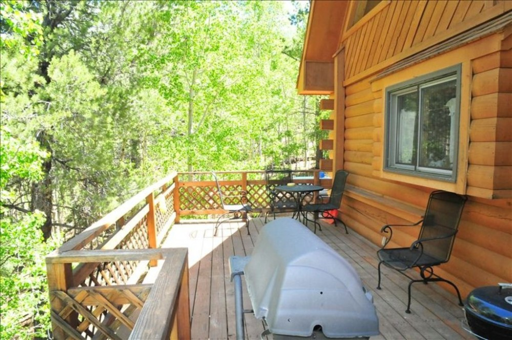 Deck off the back of cabin. Cripple Creek vacation home