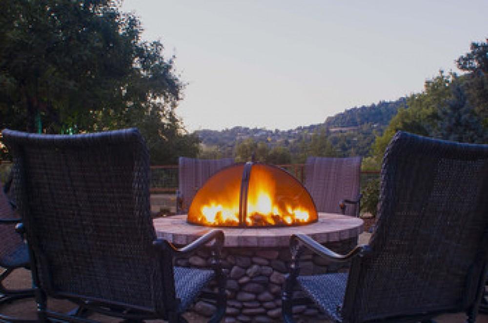Healdsburg vacation rental with Riverstone Ranch firepit