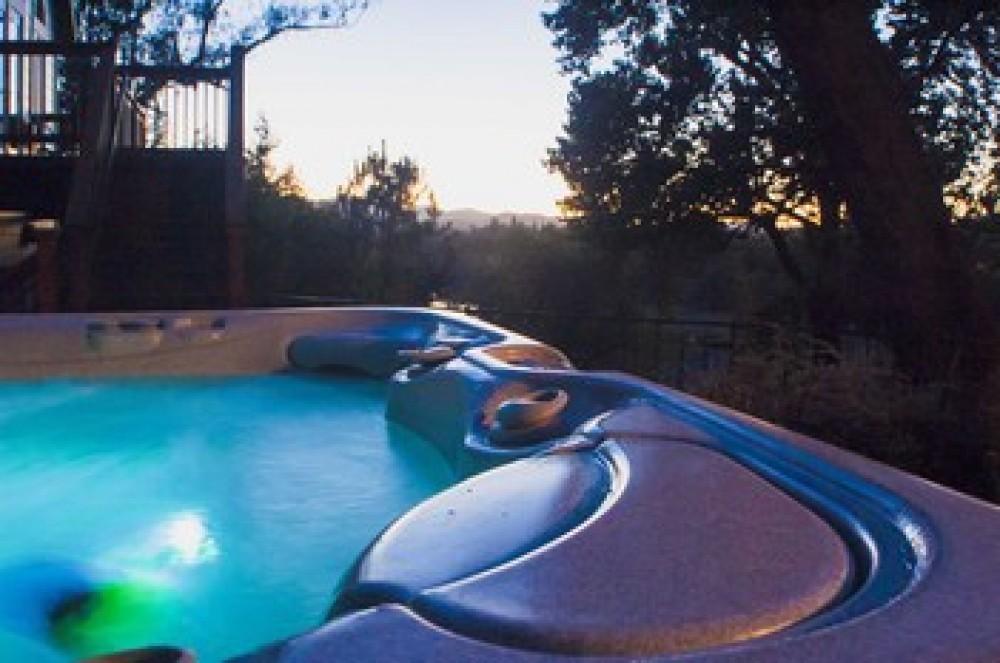 Hot tub at Riverstone Ranch Healdsburg vacation home