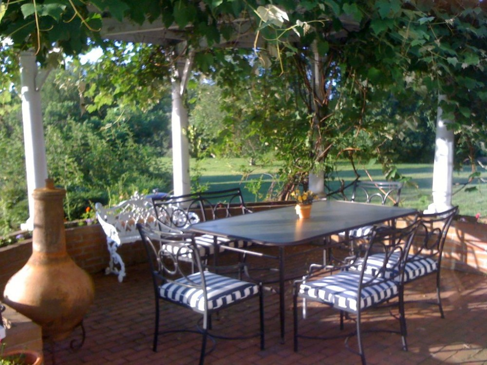 Back terrace Airbnb Alternative Southampton New York Rentals