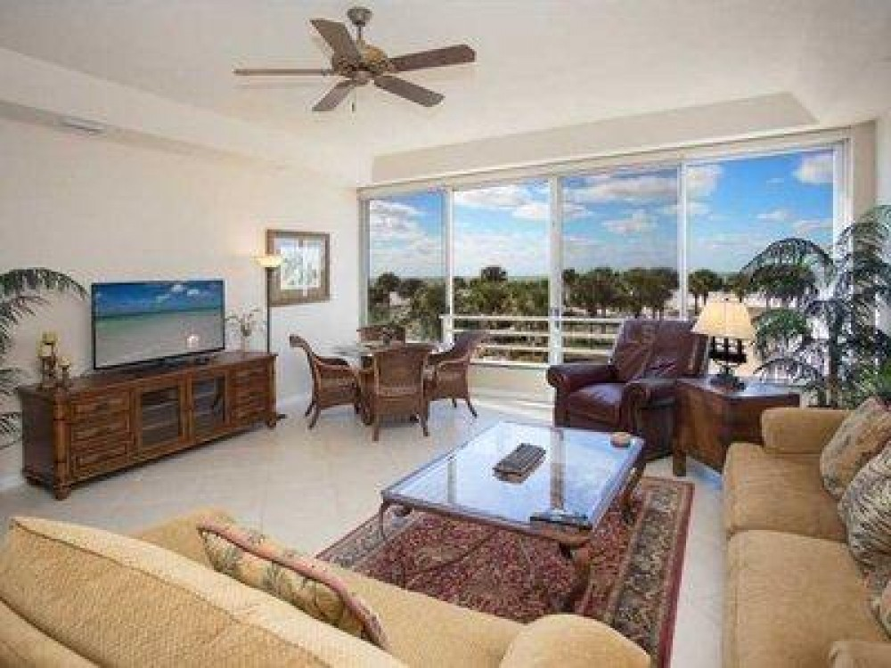 Siesta Key vacation rental with Family room directly overlooks the beach