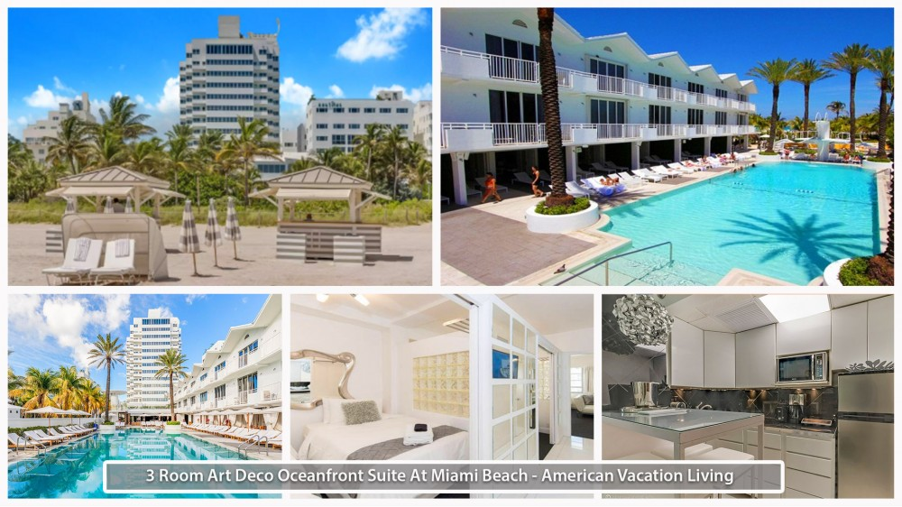 Miami Beach vacation rental with 3 Room Art Deco Oceanfront Suite