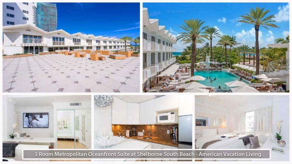 Miami Beach vacation rental with 3 Room Metropolitan Oceanfront Suite