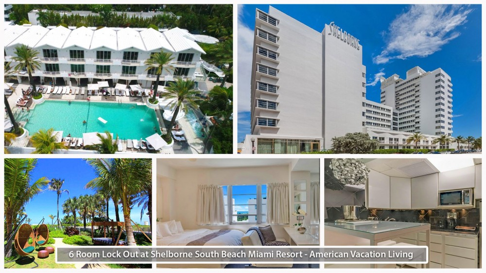 Miami Beach vacation rental with 6 Room Lock-Out Oceanfront Suites