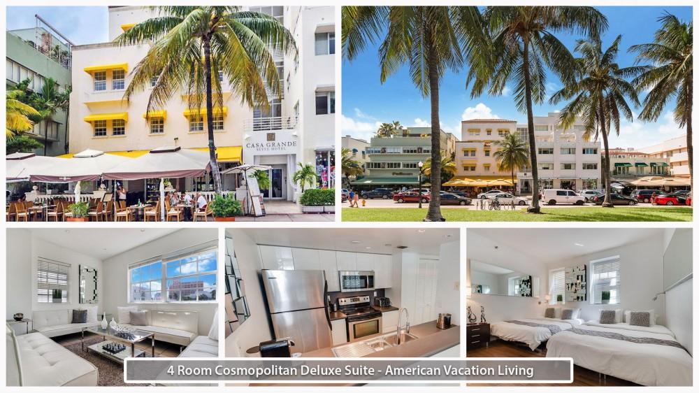 Miami Beach vacation rental with 4 Room Cosmopolitan Deluxe Suite