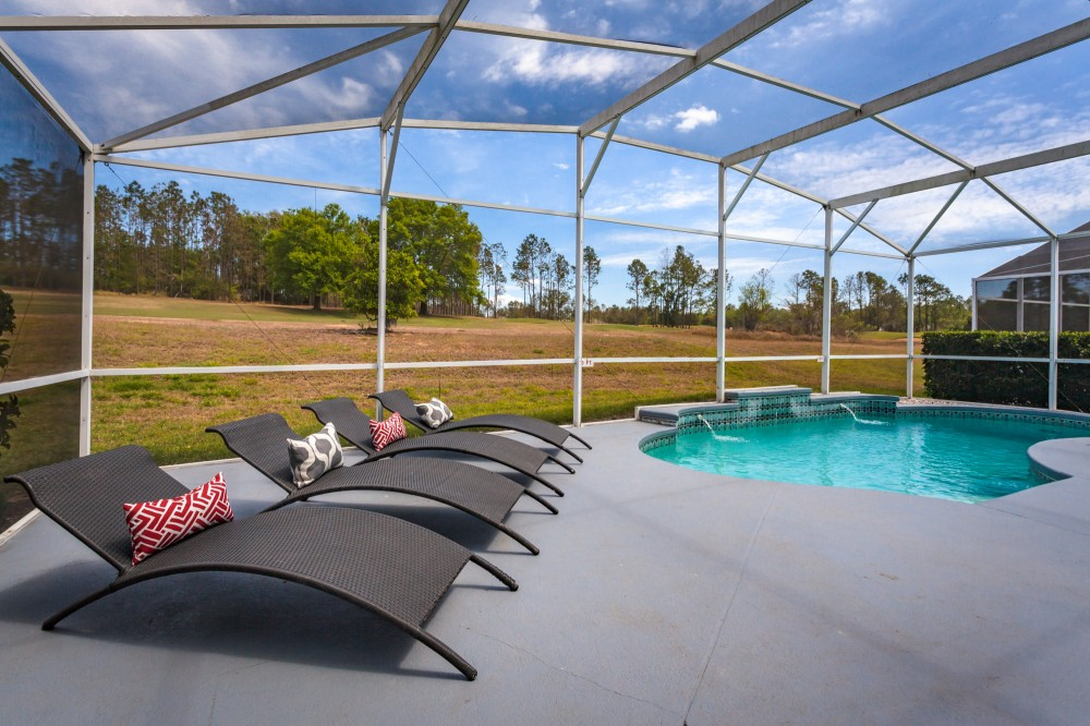 Davenport vacation rental with Estate with Private Pool overlooking Golf Course