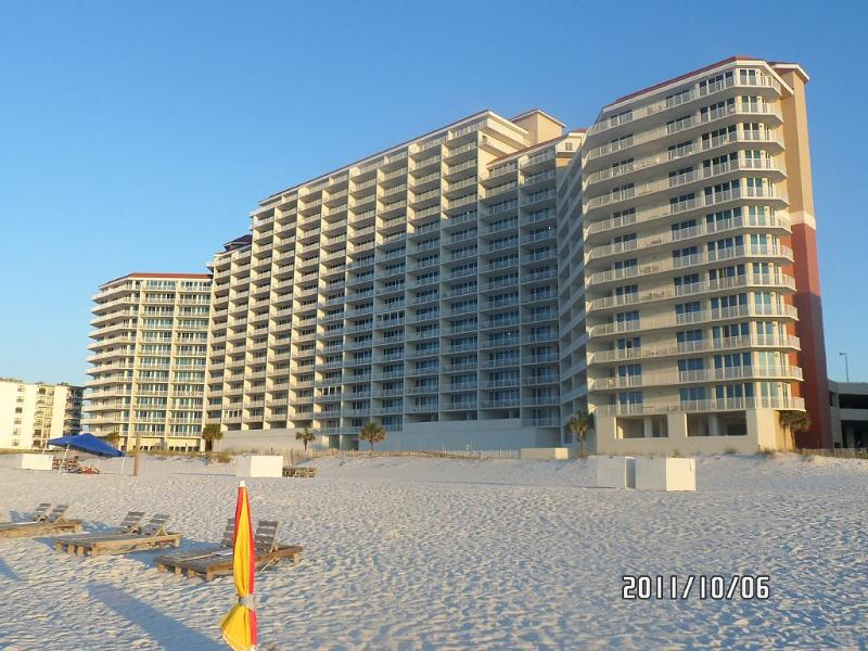 Gulf Shores vacation rental with Lighthouse from Beach