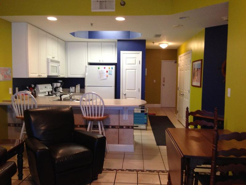 Full kitchen and washer and dryer. Gulf Shores vacation home