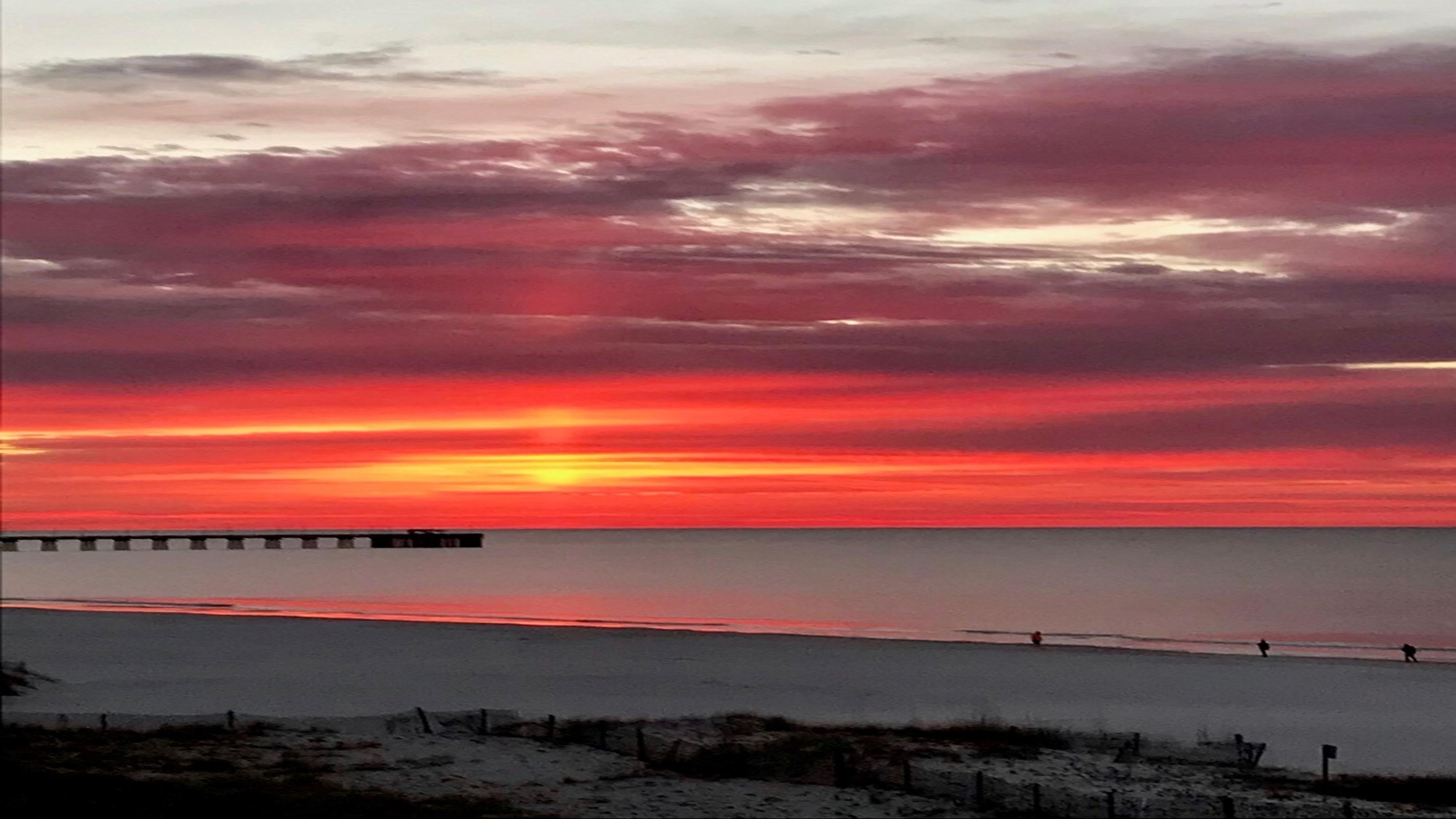Sunrise over Gulf State Park Pier