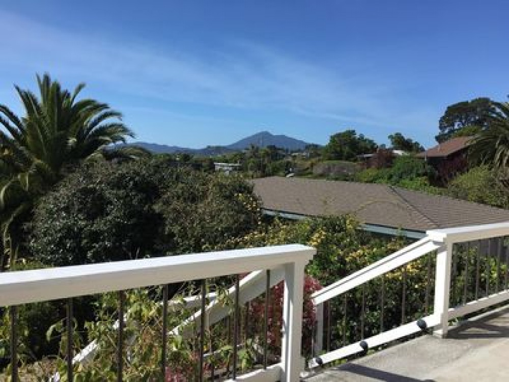 San Rafael vacation rental with View of Mt. Tam from our deck