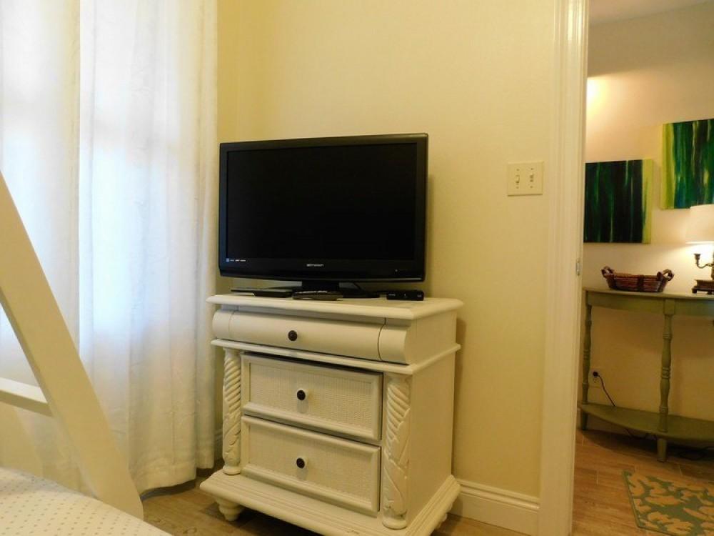 2nd guest bdrm w/ flat screen TV & dresser Airbnb Alternative Panama City Beach Florida Rentals