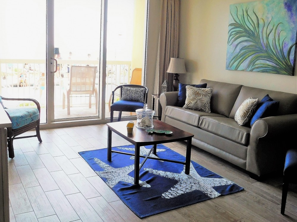 Panama City Beach vacation rental with Spacious Main Living area w/ private access