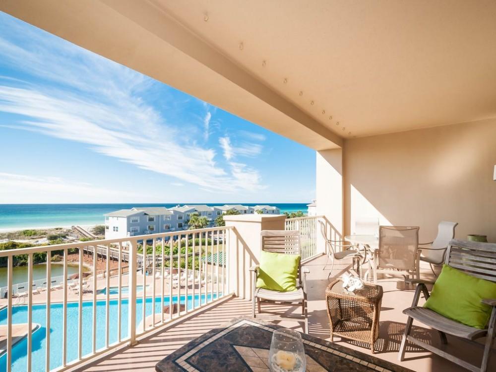 Santa Rosa Beach vacation rental with View from balcony