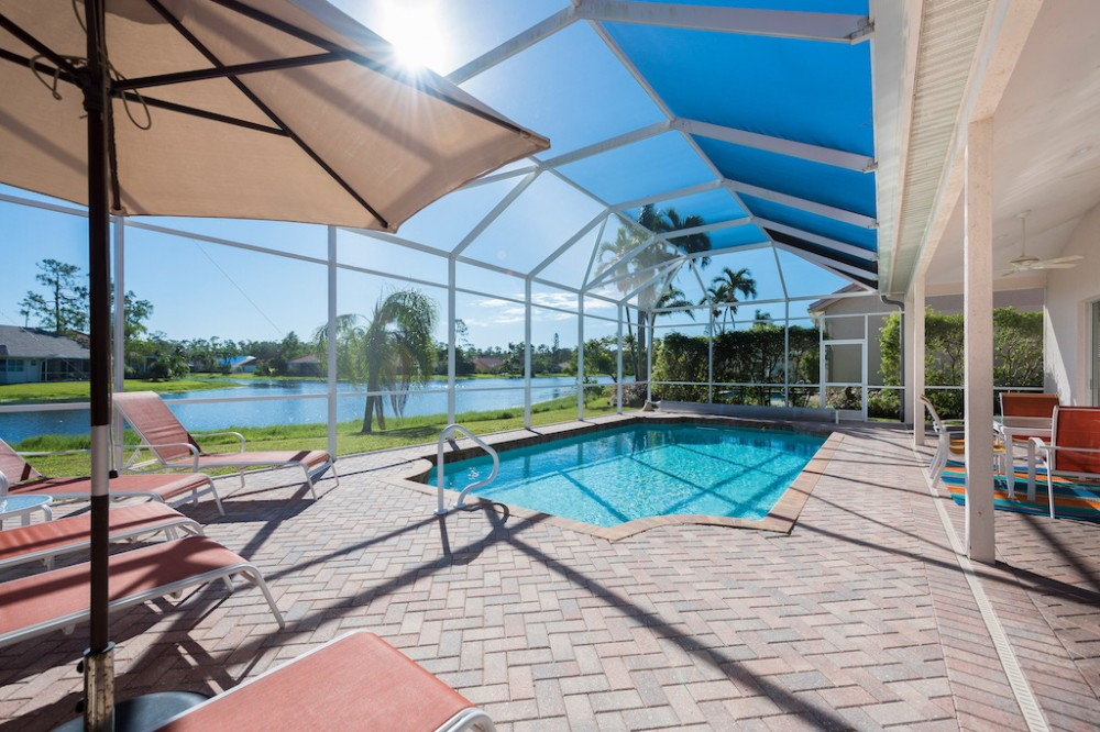 Naples vacation rental with Large pool and lanai