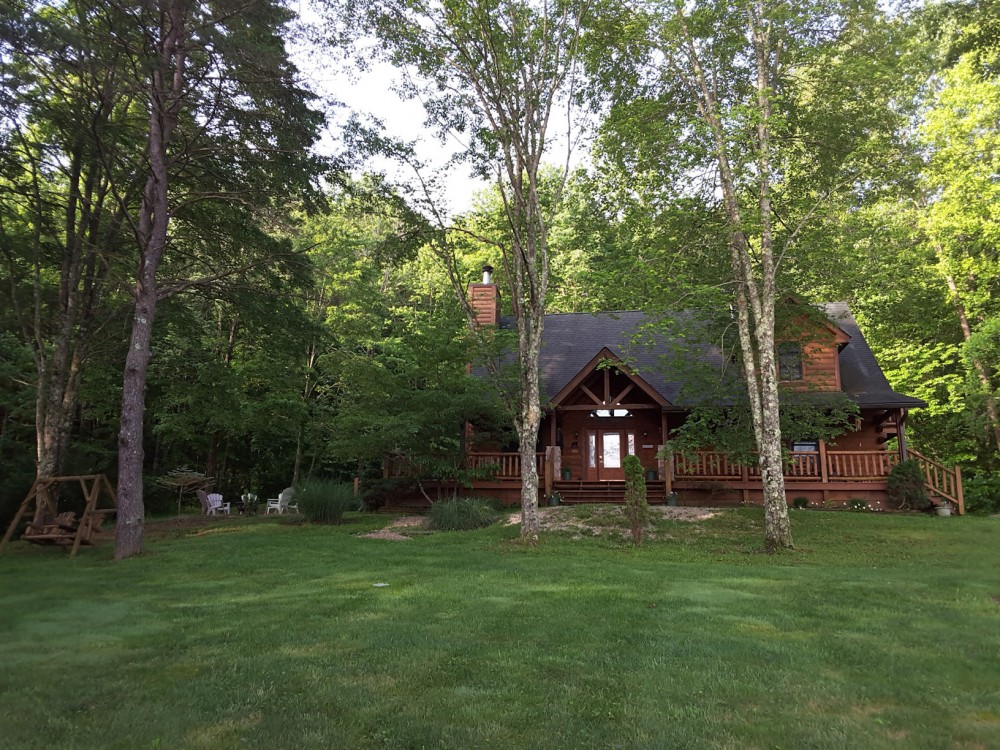 Bloomington vacation rental with Adventurewood Log Cabin