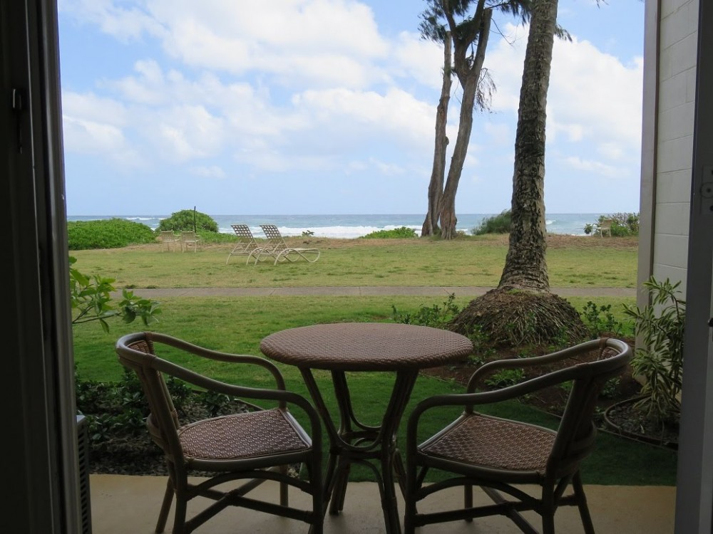 Kapaa vacation rental with Direct oceanfront view.