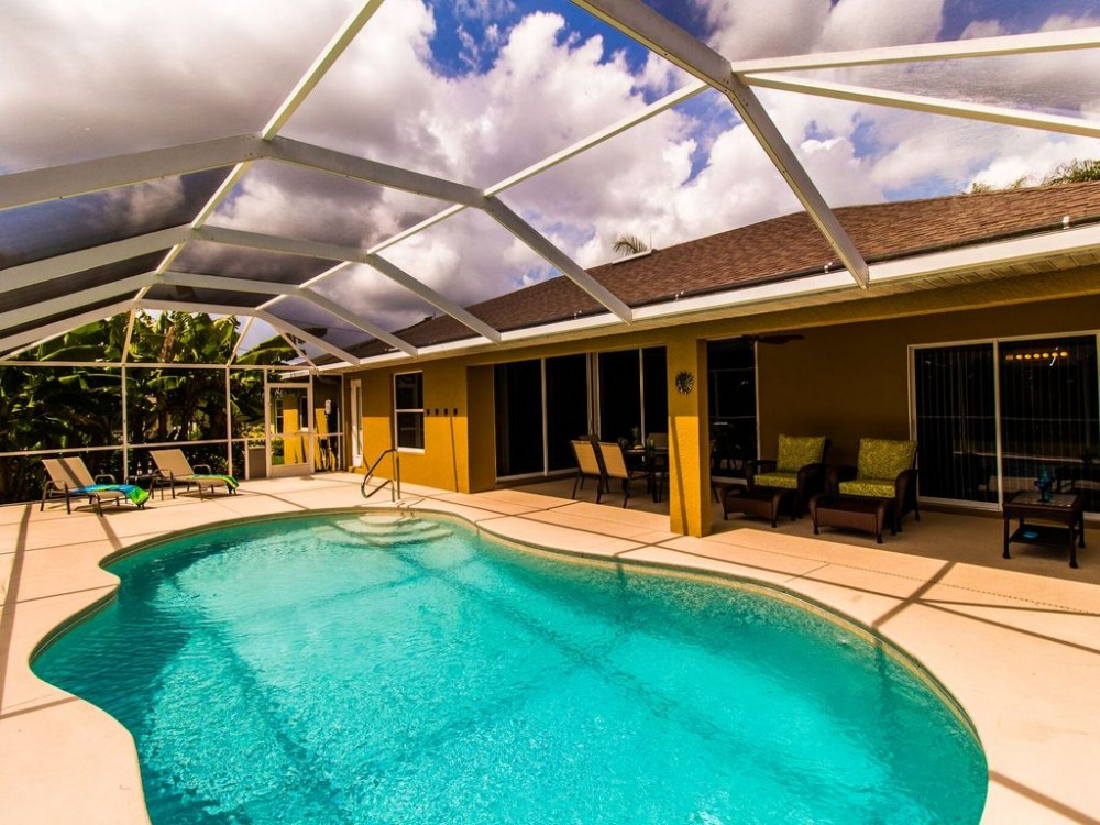 Cape Coral vacation rental with Solar heated pool