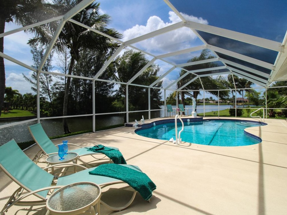 Cape Coral vacation rental with Large lanai with heated pool