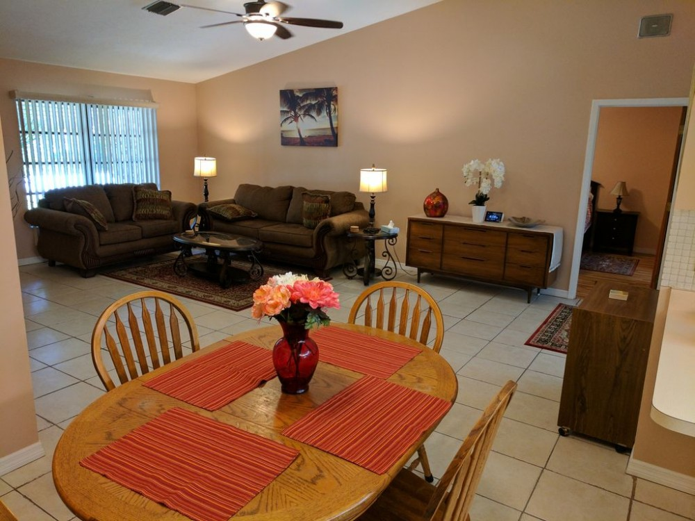 Venice vacation rental with Open concept Living Room, very relaxing