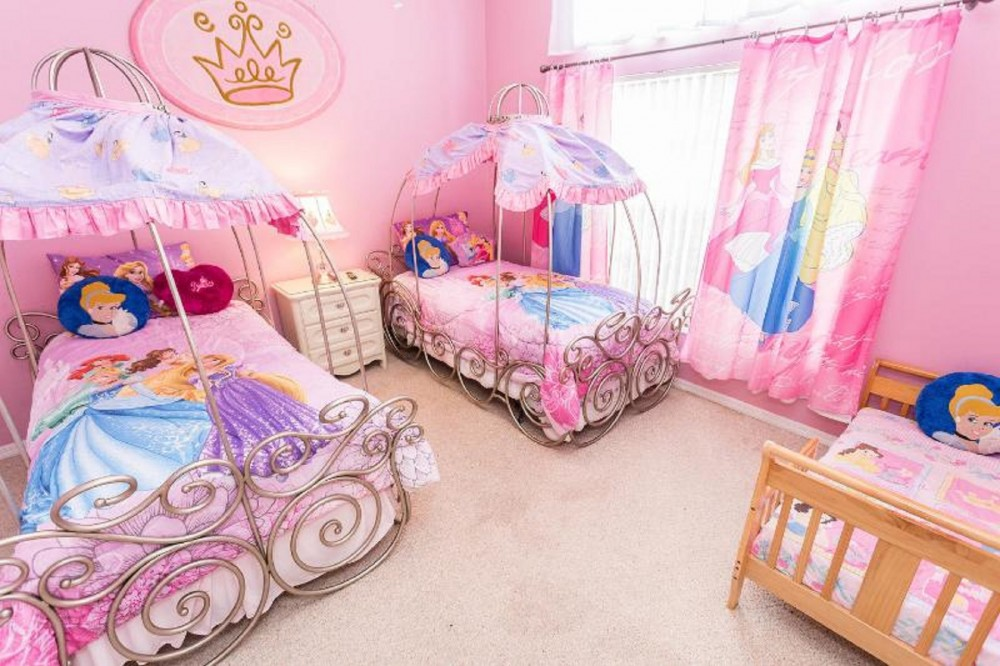 Kissimmee vacation rental with Disney Princess Twin Bedroom