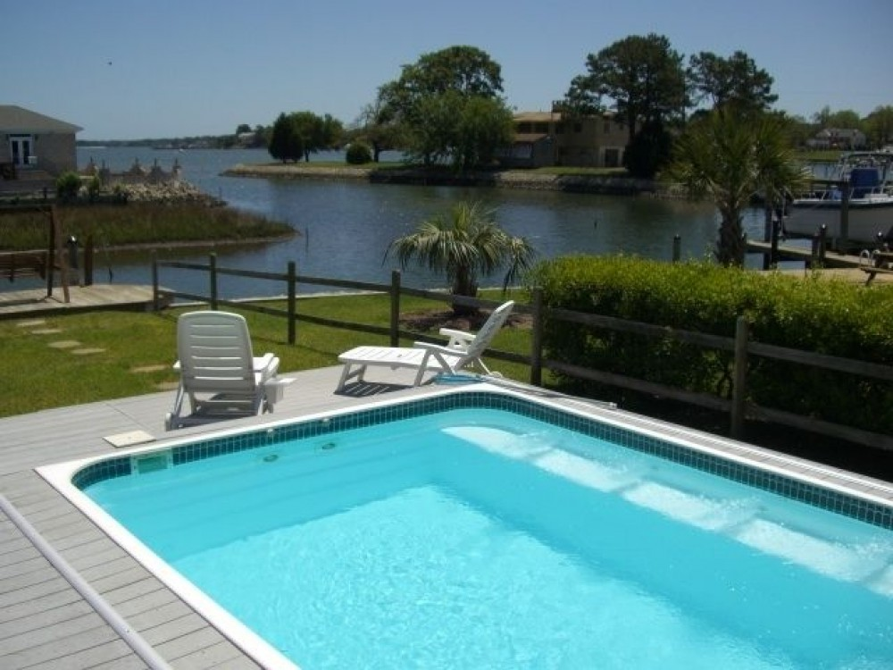 Virginia Beach vacation rental with VIEW FROM DECK ON BEAUTIFUL   BAY ISLAND