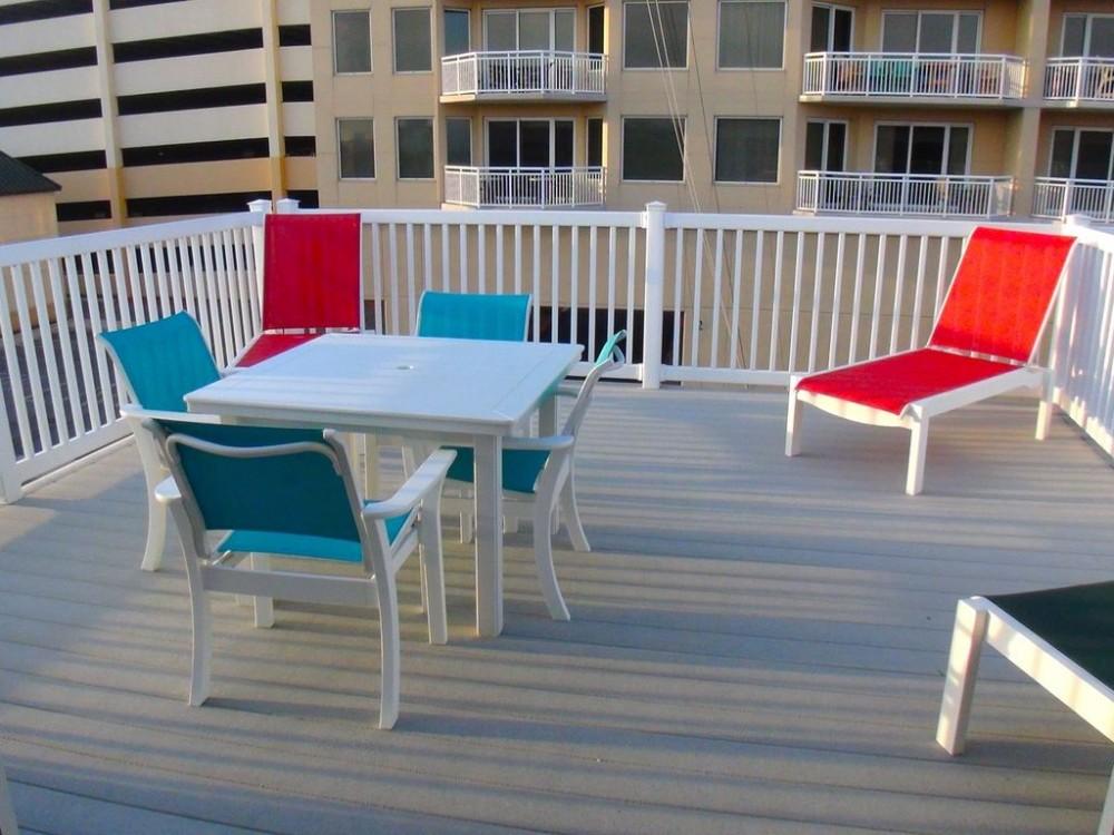 Sun deck  Ocean City vacation home