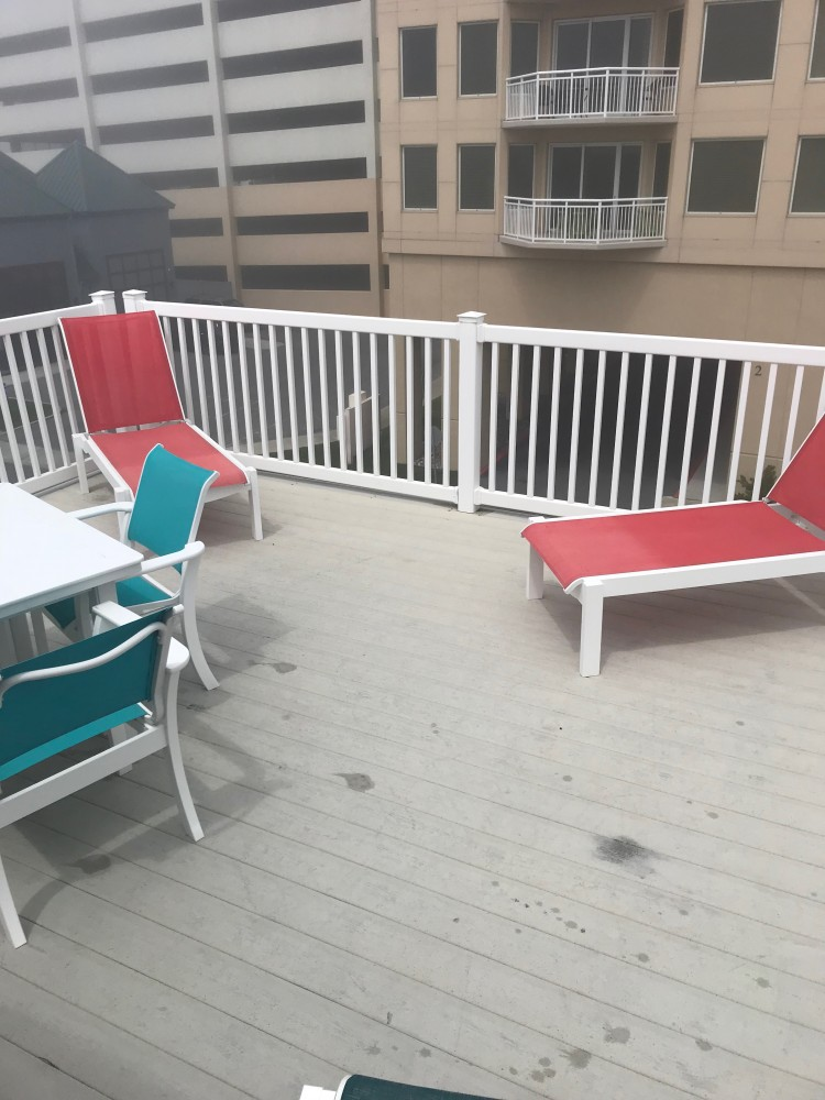 Sun deck  Airbnb Alternative Ocean City Maryland Rentals