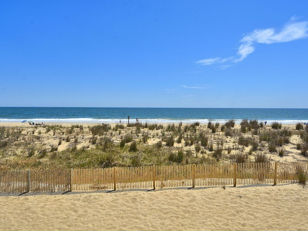 View east from balcony Airbnb Alternative Ocean City Maryland Rentals