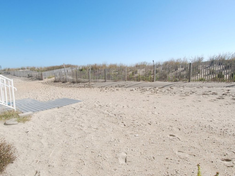 Private beach in front of building Ocean City vacation home