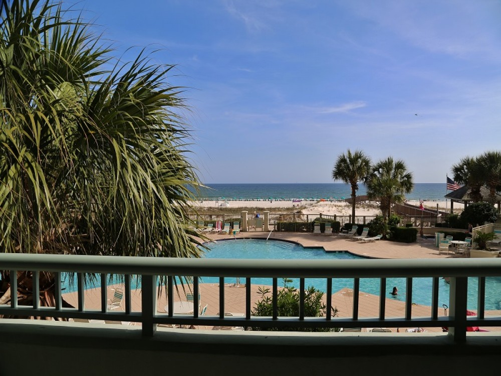 Gulf Shores vacation rental with Gulf Front View from Private Balcony