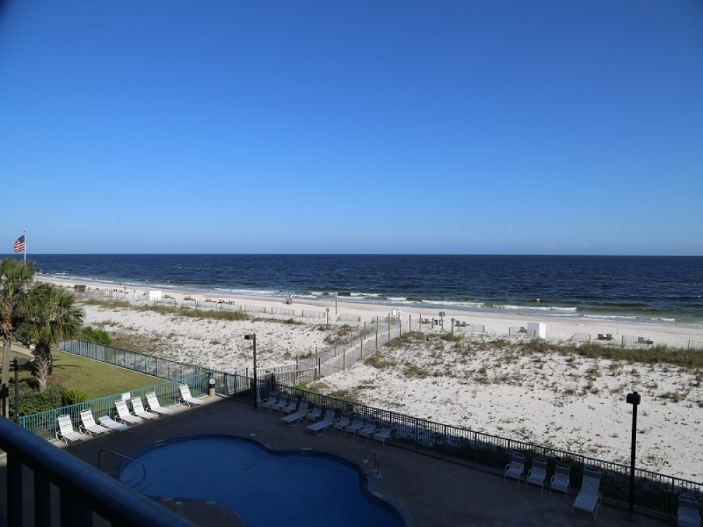 Gulf Shores vacation rental with View from Gulf Front Private Balcony