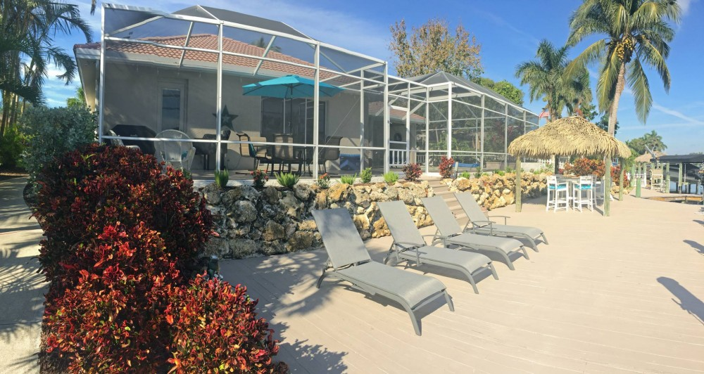 Cape Coral vacation rental with Blue Pearl - Sun Dock with Tiki