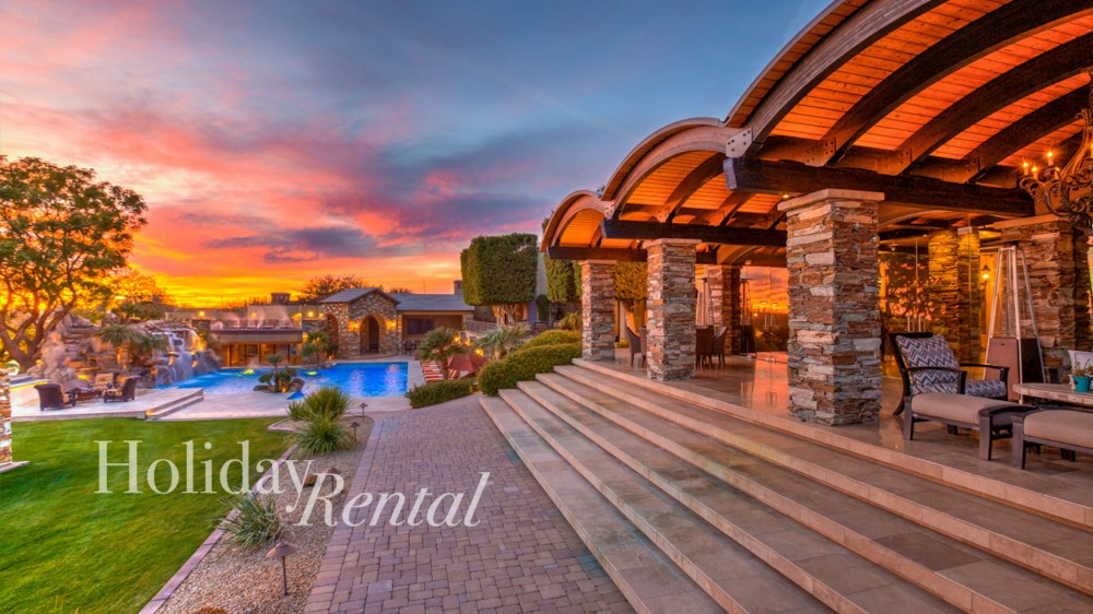 Scottsdale vacation rental with Back of the house with view of the pool