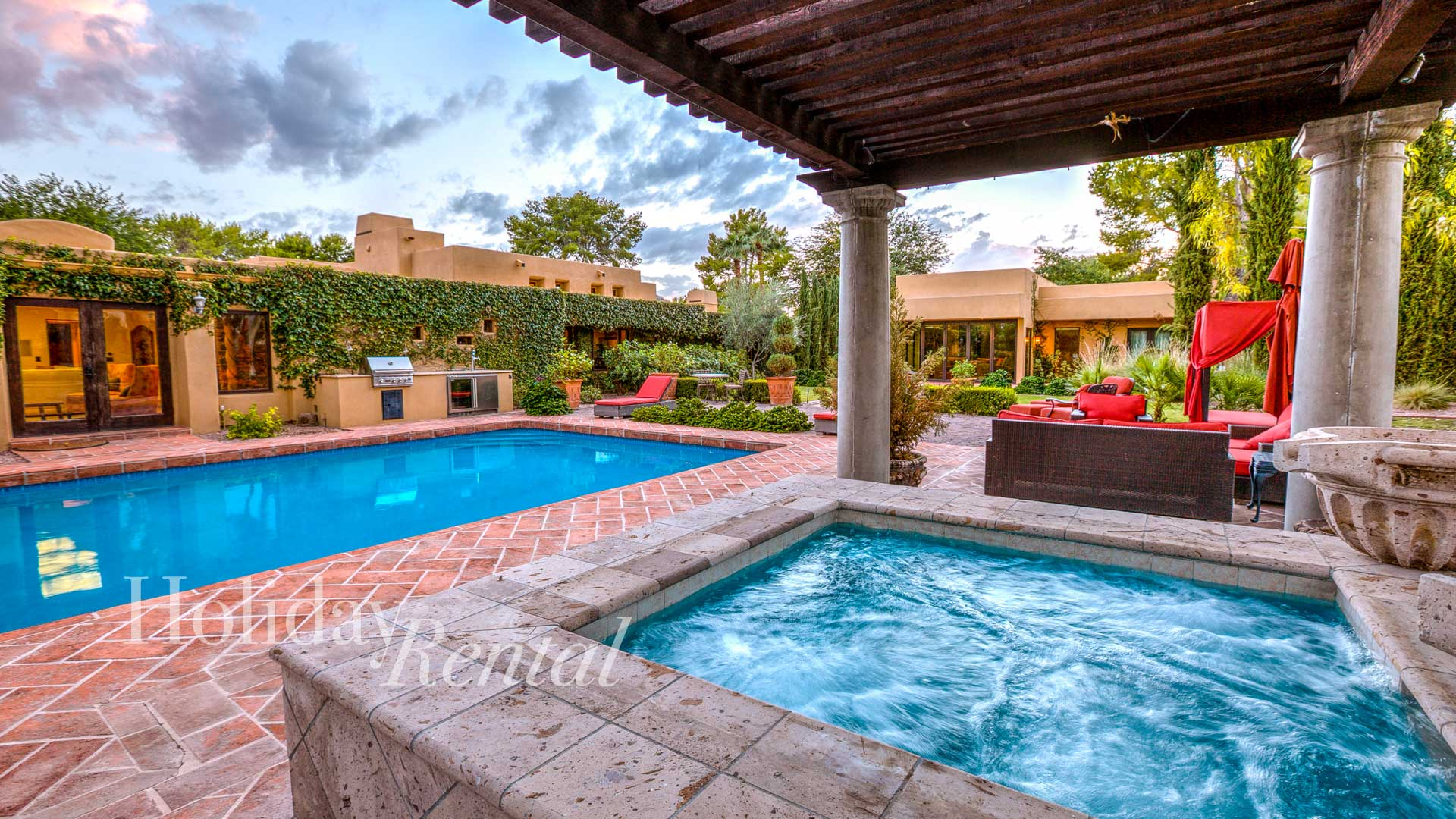Great Outdoor Entertaining & Location! Includes Guest House, Maid service daily