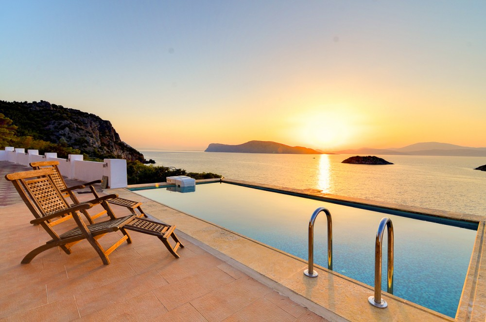 Episkopi vacation rental with Sunset from the pool