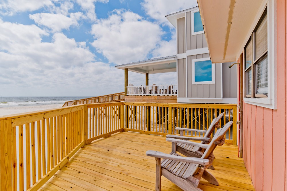 Gulf Shores vacation rental with Enjoy Relaxing on the Beach Front Deck