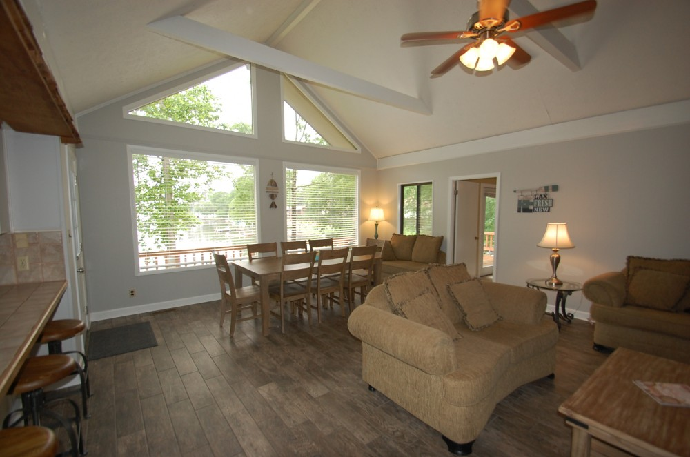 Alexander City vacation rental with Open Living Room with Stunning Lake Views