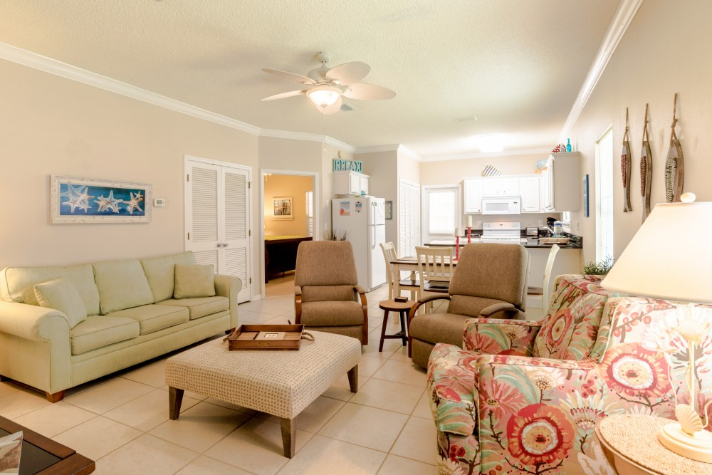 Orange Beach vacation rental with Spacious Living Area with comfortable seating